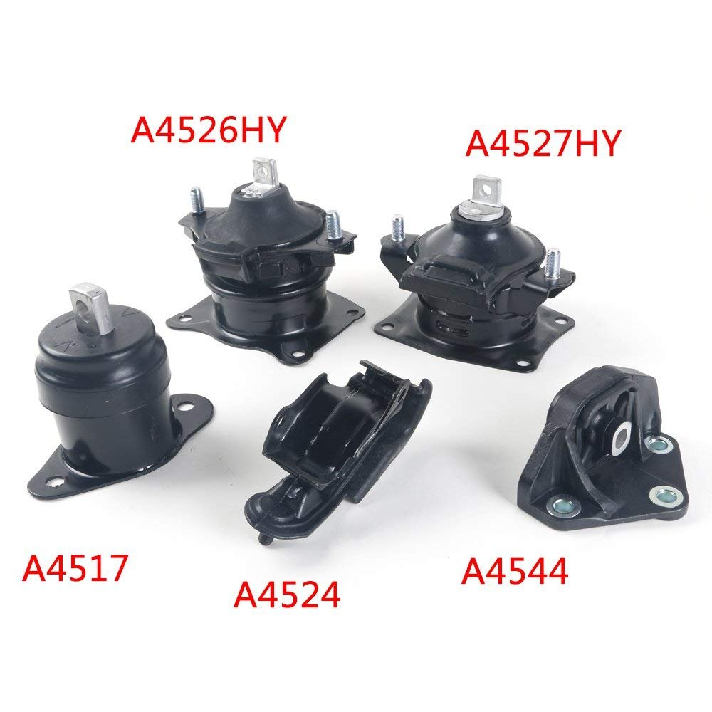 Autoforever 5PCS Engine Trans Motor /& Trans Mount Set Fit for 04 05 06 Acura TL 3.2L AUTO Transmission A4526HY A4517 A4527HY A4544 A4524