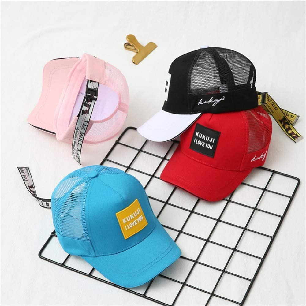 Summer Kids Baseball Caps Boys Girls Hollowed Cool Hats Cotton Sun Protection