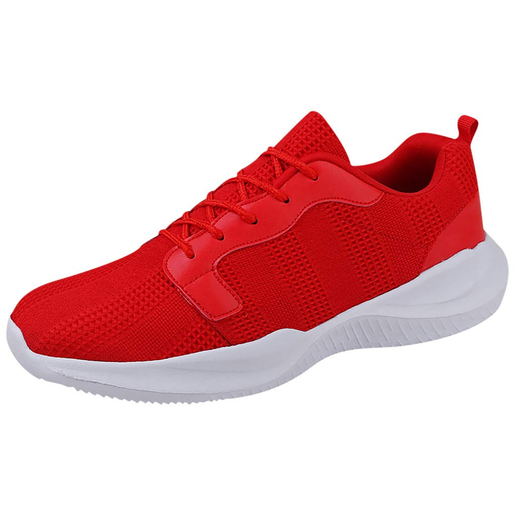 SSYongxia❤ Classic Sneakers for Women Men Lightweight Walking Running Gym Sneaker for Casual Red