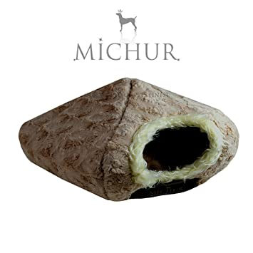 MICHUR Kate Choco, marrón suave cueva cama para perros y gatos incluye almohada: Amazon.es: Productos para mascotas