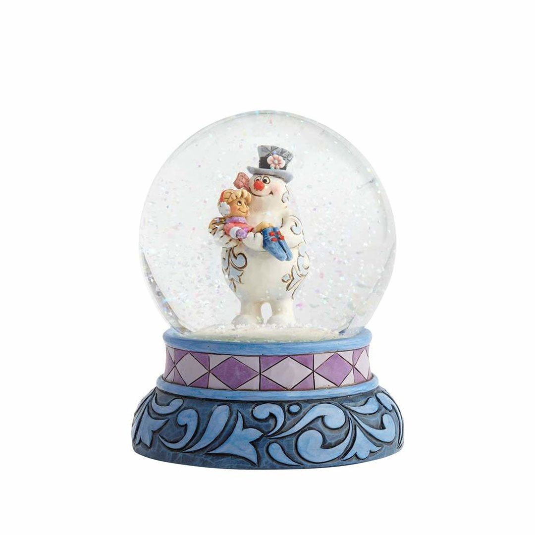 "Jim Shore ""Frosty the Snowman"" Frosty Stone Resin and Glass Waterball, 5.25"""