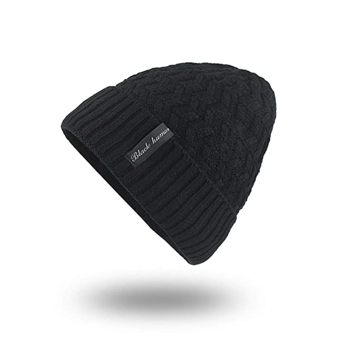ea74a1c2d9f946 Image Unavailable. Image not available for. Color: XINBONG Winter Hats for Men's  Beanies Knitted Wool Solid Color Bone Double Layer Keep Warm Autumn