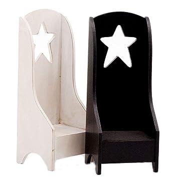 Miraculous Obi Primitive Mini Wooden Chairs Set Of 2 Candle Holder Rag Doll Furniture Display Country Home Decoration Mini Shelf Blackwhite Inzonedesignstudio Interior Chair Design Inzonedesignstudiocom