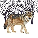 Paperproducts Design Paper Winter Solstice Wolf Luncheon Napkins (Set of 20)