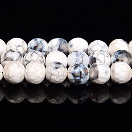 No Logo Zqybh 6 10mm Carnelian Beads With Irregular Pattern Black And White Crack Beads Round Shape Natural Stone Beads For Jewelry Making Color Multi Size 6mm Amazon Co Uk Kitchen Home