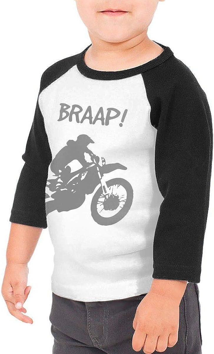 QPKMRTZTX0 Boys Girls Kids /& Toddler Dirt Bike Motocross-2 Long Sleeve Tees 100/% Cotton