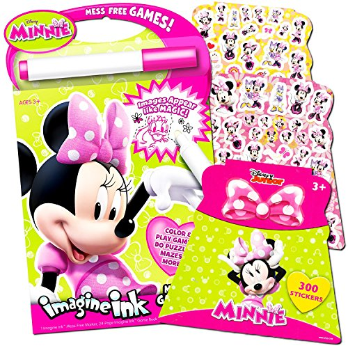 Disney Minnie Mouse Imagine Ink Book Super Set (Includes Over 100 Stickers and Mess-Free -