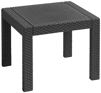 ALLIBERT Victoria Table, Graphite/Cool Gris, 59 x 59 x 43 cm, 233783 ...