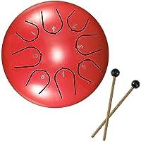Tambores de hendidura, tambor de lengüeta de acero, tecla D de 6 pulgadas y 8 tonos, tambor Handpan con baquetas, bolsa…