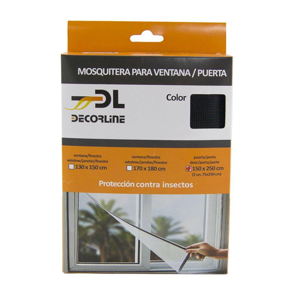 Epid Moustiquaire velcro Noir 150x250 cm 602210061525