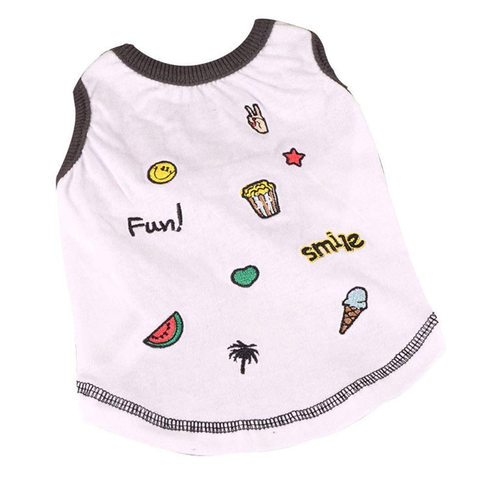 LovelyPet Pet Clothes Spring and Summer Teddy Dog Clothes Small Dog Cotton Thin Vest (Size : S)