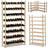 Yaheetech Simple and Generous Wooden Wine Rack 8 Layers for 120 Bottle Stand Review