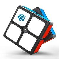 GAN 249 V2 M, 2x2 Magnetic Speed Cube Gans 249M Mini Cube Magic 2x2x2 Puzzle Toy Black (Stickered)