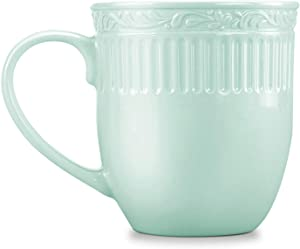 STAR MOON Ceramic Coffee Mug Tea Cup Roman Retro Style for Office and Home, Volume 460ml / 15.56 oz, Dishwasher, Microwave&Disinfection Cabinet Safe -Light Green (Set of 2)
