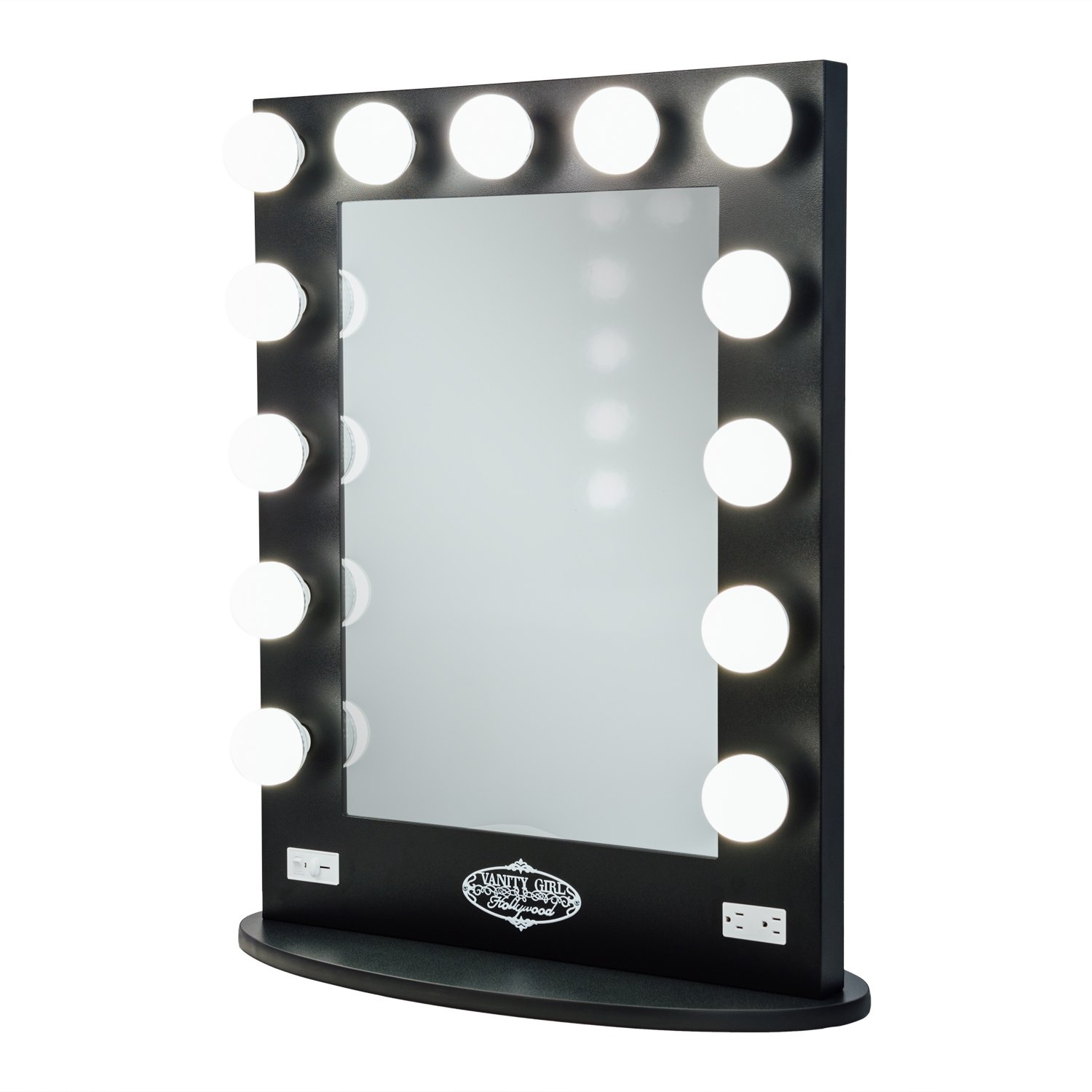 Broadway Lighted Vanity Mirror - Gloss Black
