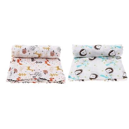 Baoblaze - 2 toallas de baño para bebé recién nacido, de algodón ...
