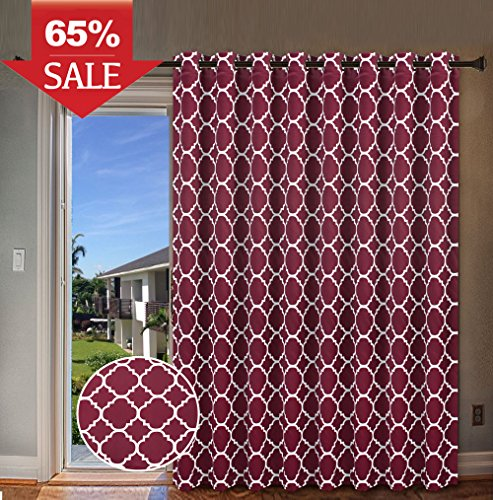H.VERSAILTEX Wide Blackout Room Darkening Patio Door Curtain