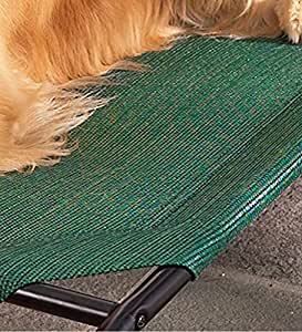 Large Weather-Resistant Raised Mesh Pet Bed Replacement Mesh Cover, in Green
