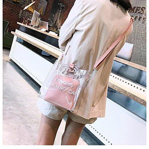 Pink Bolsa Transparente S Moda Congelada Mujeres Paquete Bolso Size Anillo Zhanying Black Hija color Las Diseño Crossbody Fruta De CO1Unqwp