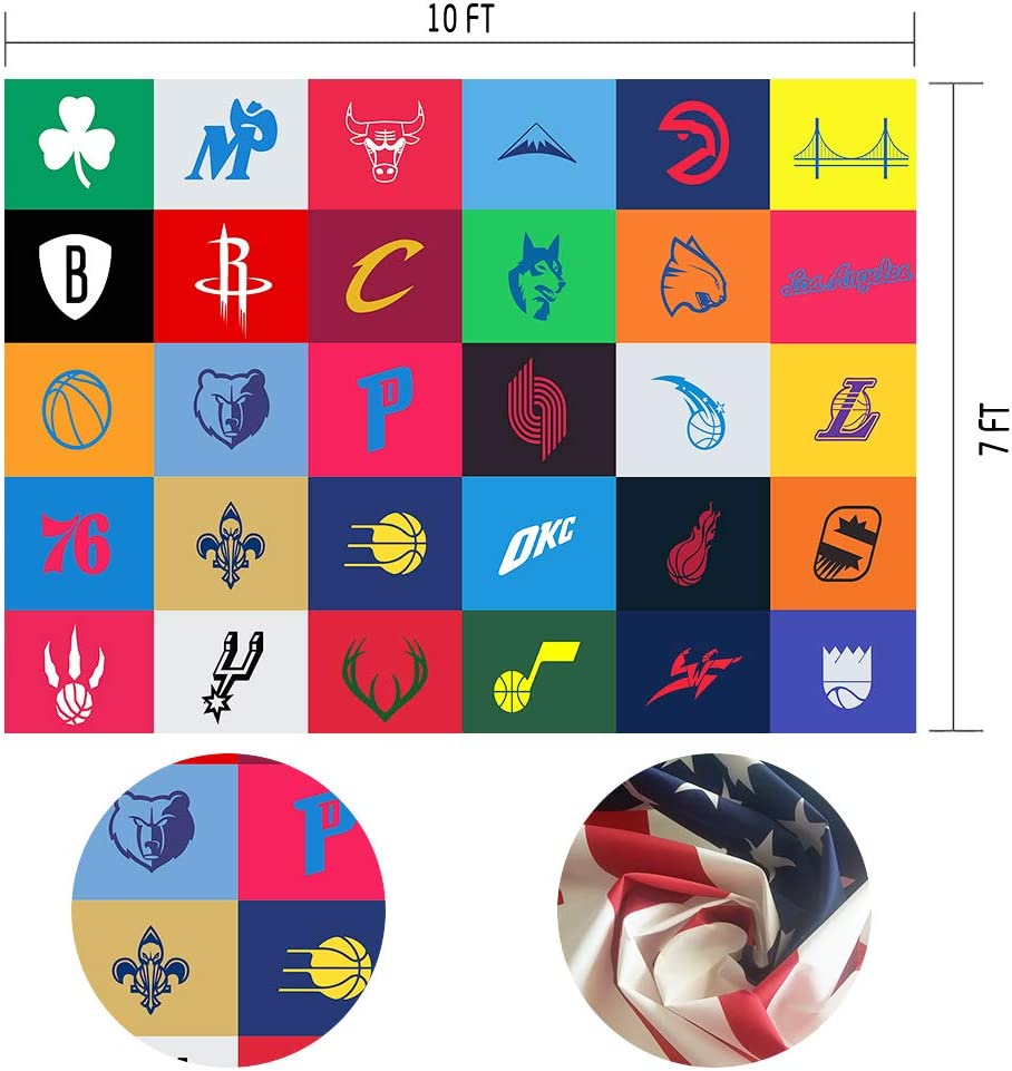 MTMETY 10x7ft The Minimalist NBA Logos Wallpapers Best Room Images Basketball,Sports,Team Logo Photo Booth Props HXME168