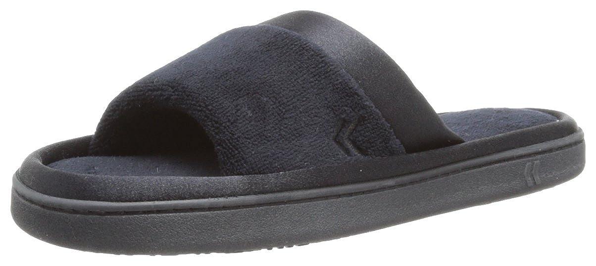 ISOTONER Womens Microterry Satin Slide Slipper