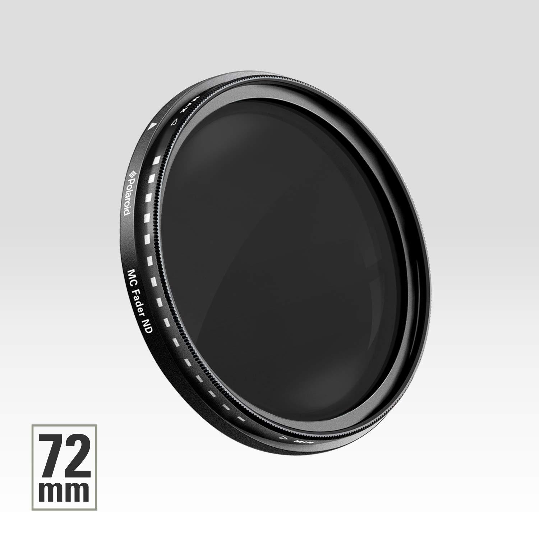Plage Variable ND2-ND2000 Noir Polaroid PLFILFDND200077 Filtre Att/énuateur de Densit/é Neutre /à Couches Multiples 77 mm Polaroid Optics