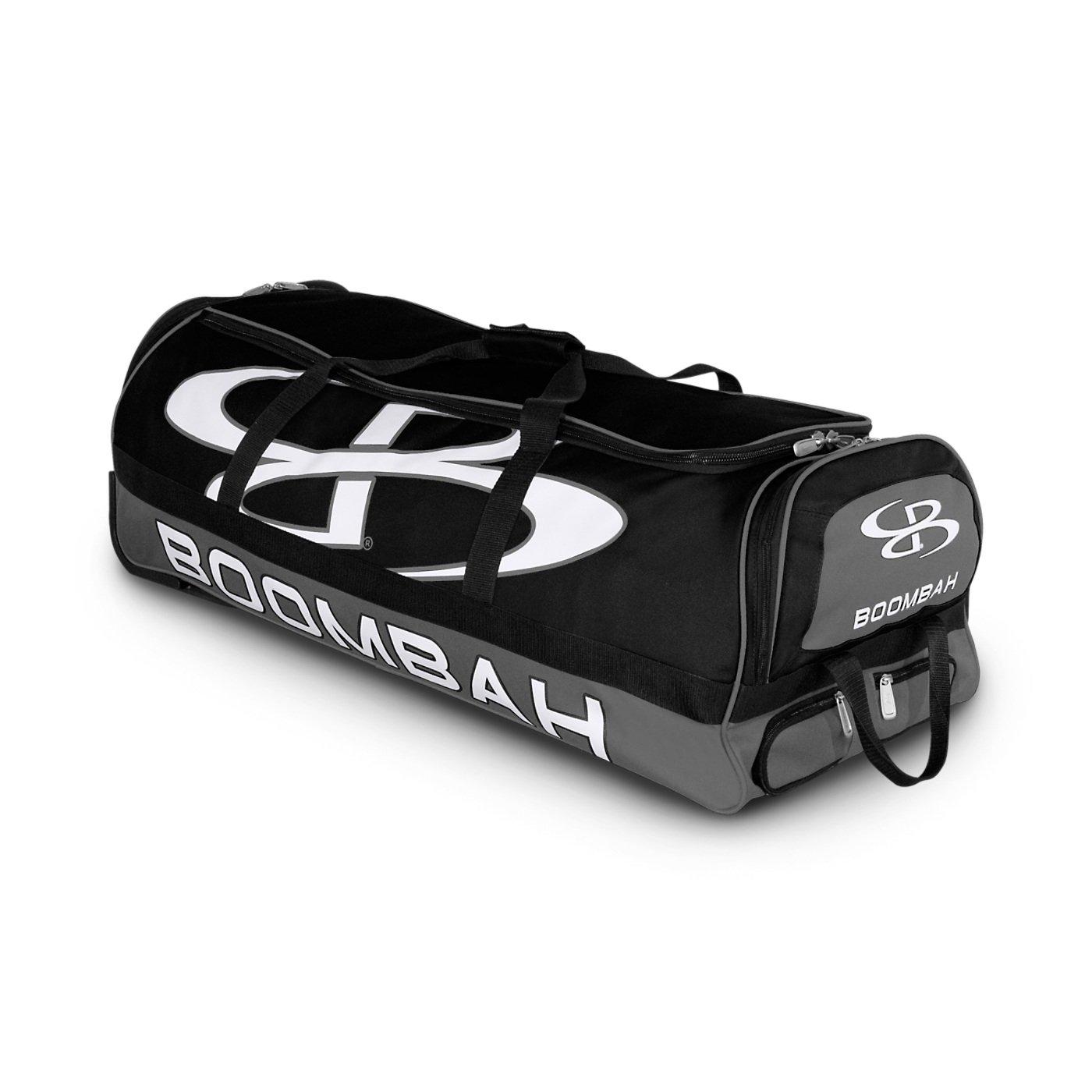 (ブームバー) Boombah Bruteシリーズ キャスター付きバットケース 野球ソフトボール用 35×15×12–1/2インチ 49色展開 4本のバットと用具を収納可能 B01MYTEEGN ブラック/グレー ブラック/グレー