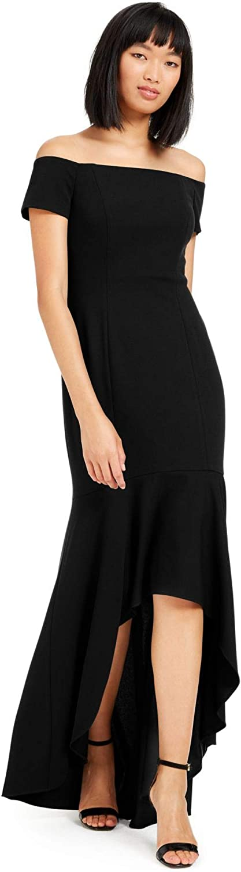 Calvin Klein Women's Off Cheap SALE Start The Shoulder Low Sale price High Gown