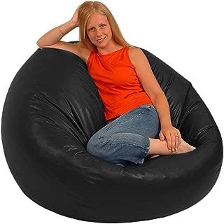 product image for Comfy Bean Beanbag Large Vinyl (Black)