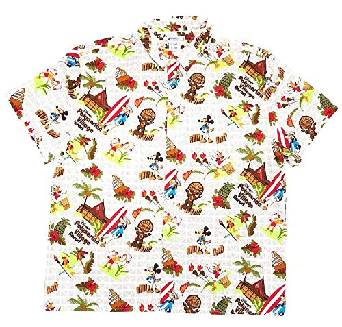 Mickey Mouse Hawaiian Shirt - DisneyParks Polynesian Resort Dole Whip Mickey Mouse Hawaiian Camp Shirt Boys (Small)