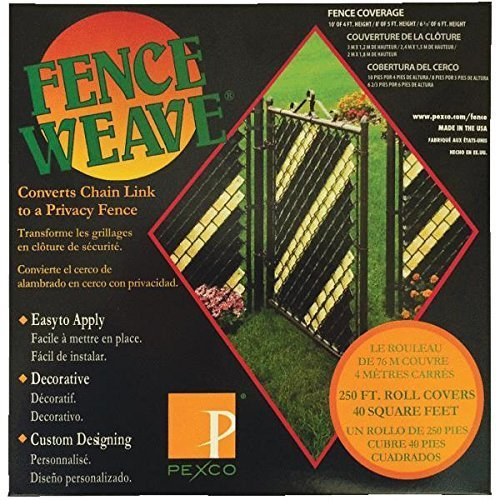 Fence Weave - Black - 250 ft roll Black Chain Link Fence