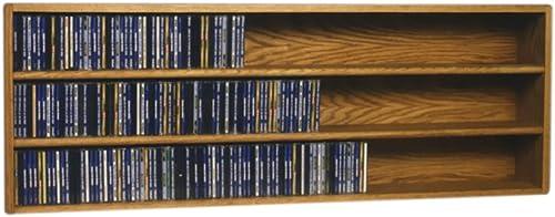 Cdracks Media Furniture Solid Oak Wall or Shelf Mount CD Cabinet Capacity 354 CD s Honey Finish