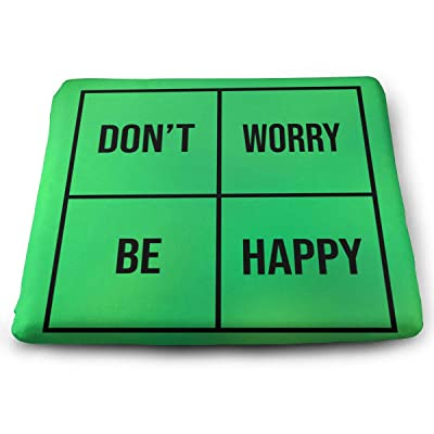 Sanghing Customized Don't Worry Be Happy 1.18 X 15 X 13.7 in Cushion, Suitable for Home Office Dining Chair Cushion, Indoor and Outdoor Cushion.: Home & Kitchen