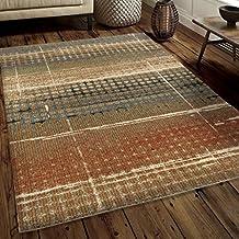 Carolina Weavers Soft Plush Collection Ricardo Beige Shag Area Rug (5'3 x 7'6)