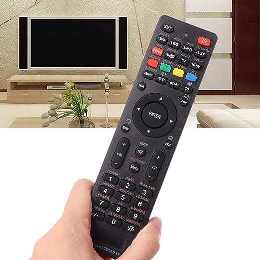 Sigwetg - Mando a distancia ultrafino para televisor LCD LED universal para Supra BBK Izumi Panasonic Hitachi Akai con teclas Netflix: Amazon.es: Hogar
