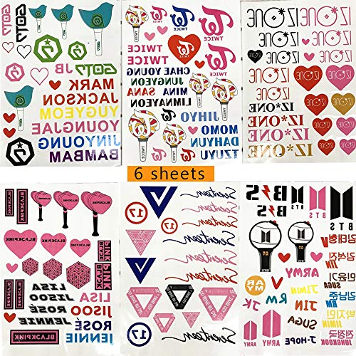 (MTFX 6 Letter temporary tattoo sticker , Waterproof, Suitable For Women, Girls, Children,Sexy Body Tattoo Sticker For Women Girl For Arms Legs Shoulder Or Bac(100+ Different Transfer)