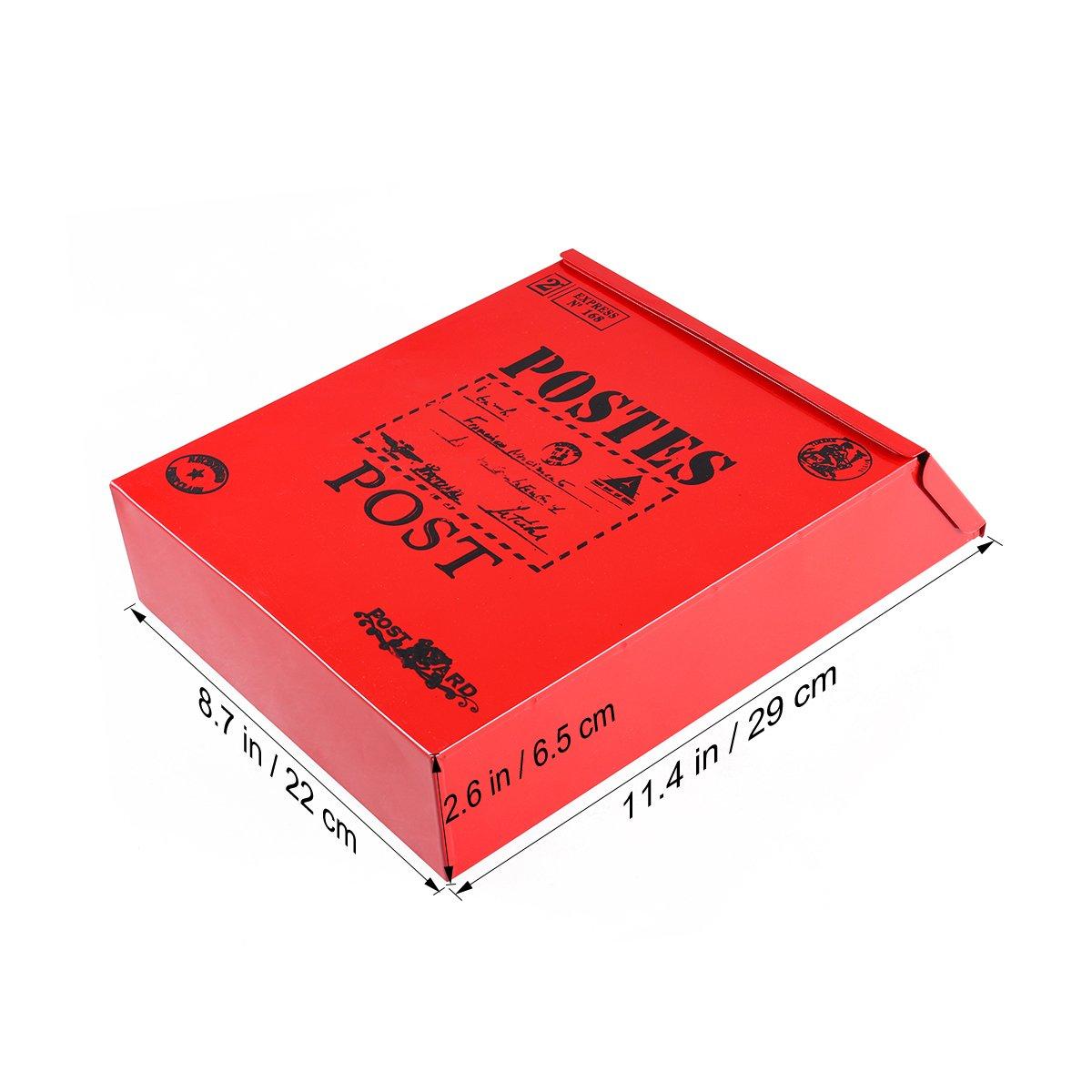 STOBOK Kleine Vorschlagsbox An der Wand montierbare Mailbox H/ängende Beschwerde Mehrzweckbox aus Aluminiumlegierung mit Schlosswand