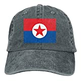 LINGMEI North South Korea Flag Unisex Adult Denim Dad Baseball...