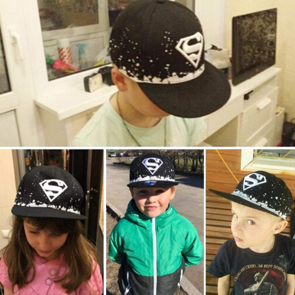 WULIAN Cool!Superman Cartoon Snapback Caps Adult /& Child Baseball Cap Bone For Boys Girls Hip Hop Caps Kids Summer Hats Fashion Sun Hat