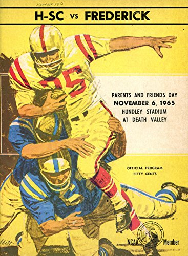 Hampden-Sydney Tigers vs Frederick College Football Program- 11/6/1965 (1965 Ncaa Football)