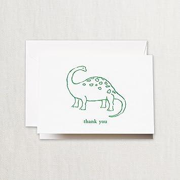 Grúa Set de 10 moldes dinosaurio gracias Nota: Amazon.es: Oficina y papelería