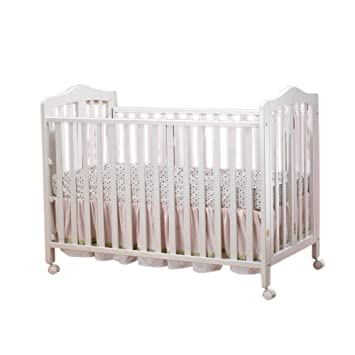 Orbelle Trading Lisa Two Level Full Size Folding Crib, White