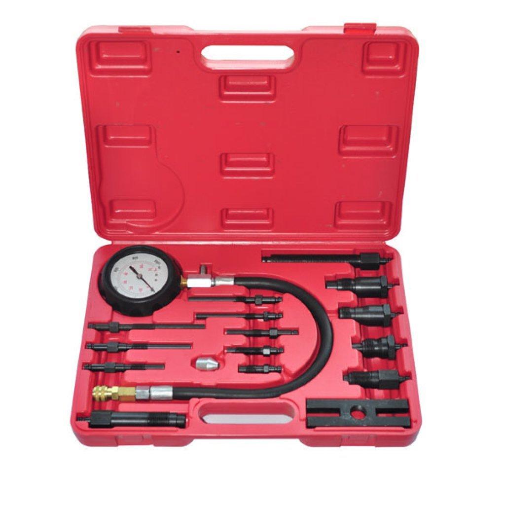 Festnight 20 Pieces Auto Diesel Engine Compression Tester Kit for Garage Workshop DIY Tools
