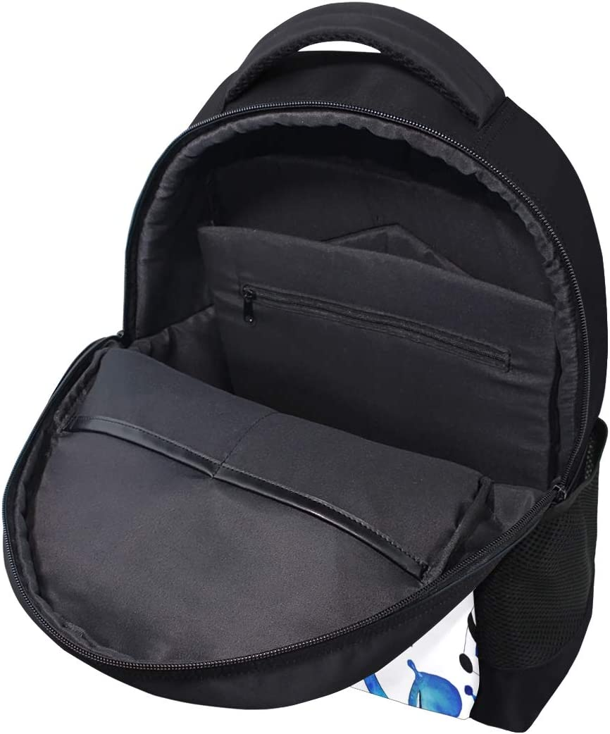 JERECY Watercolor Cute Panda Pattern Casual Backpack Custom Office School Laptop Bag Travel Daypack