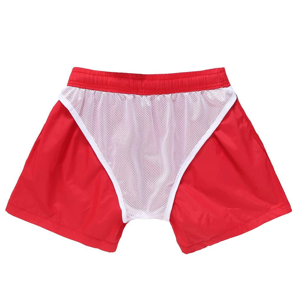 HOUSINGLOVES Men Spring Summer Trunks Quick Dry Beach Surfing Running Swimming Short Pant