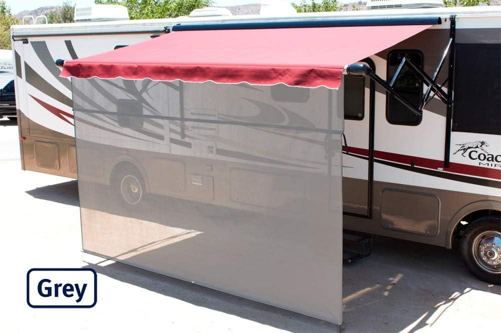 RV Awning Sunscreen 85/% Solar Mesh Shade Pro Vista Shade 10 x 6, Black