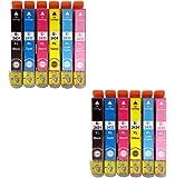 Prestige Cartridge Epson 24XL 12 Cartucce d'Inchiostro Compatibile per Stampanti Epson Expression Photo Serie, Nero/Ciano/Magenta/Giallo/Ciano Chiaro/Magenta Chiaro