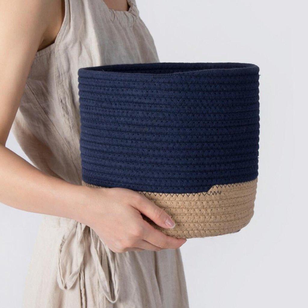 Aufbewahrungstaschen Xuan - - - Worth Another Baumwolle Thread Kampf Farbe Schmutzig Wäschekorb Ablagekorb Spielzeug Box Rattan Weave (größe   Groß) ba2b67