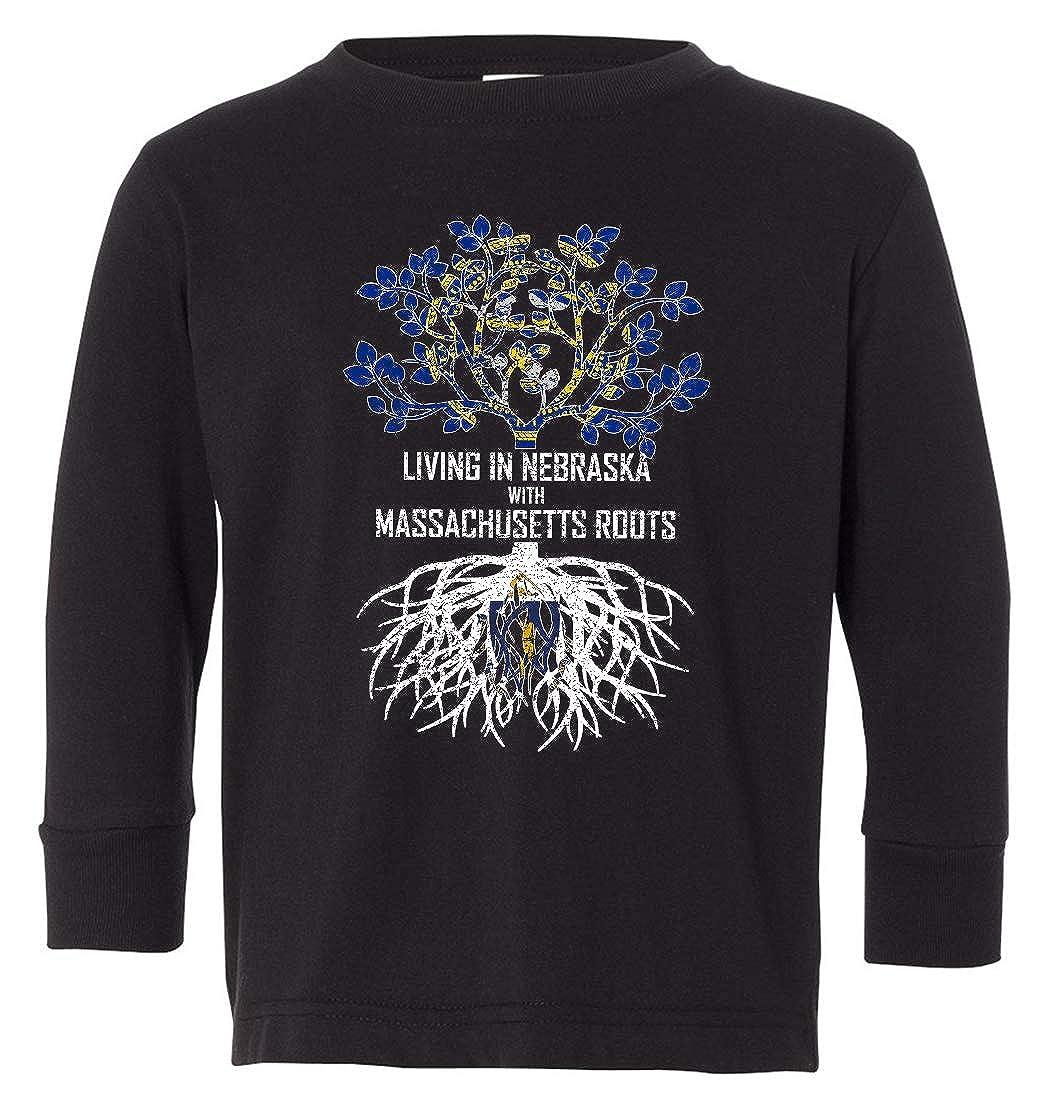 Tenacitee Babys Living in Nebraska Massachusetts Roots Shirt