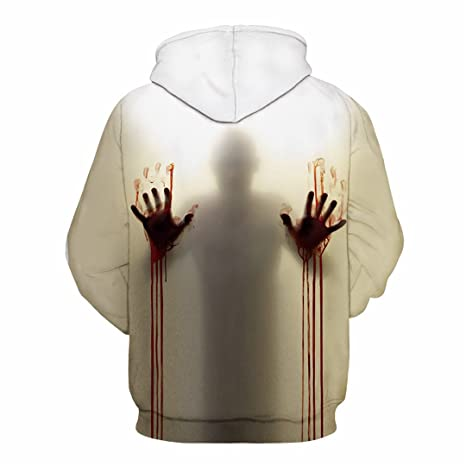 Amazon.com: LJFKDFSC Halloween Blood Hand Hoodie Sweatshirt Ms. Mens Jacket: Clothing